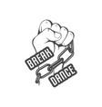 break dance logotype vector image
