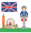 brexit in the united kingdom vector image vector image