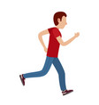 cartoon male character in motion vector image vector image
