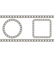 chain link pattern circle and square vector image vector image