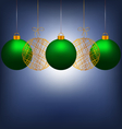 Christmas balls on blue vector image vector image