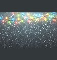 christmas snow falling white snowflakes on dark vector image vector image
