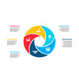circle element for infographic with 5 options vector image vector image