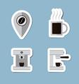 coffee and tea flat icon set vector image