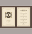 coffee menu template design flyer for cafe vector image vector image