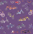 collection of realistic bicycles vintage vector image vector image