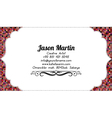 Colorful business card vector image vector image