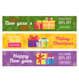 colorful set of sale banners best price buy now vector image