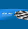 creative of steel aluminum vector image