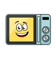 Cute cartoon microwave oven vector image vector image