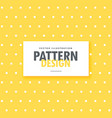 cute yellow background with white dots vector image vector image