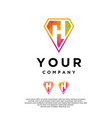 emblem logo with initials h vector image vector image