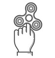 fidget spinner line icon vector image vector image