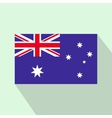 Flag of Australia icon flat style vector image vector image