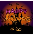 Happy Halloween party text design vector image vector image