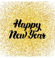 Happy New Year Gold Poster vector image vector image