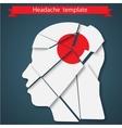 headache migraine or vector image
