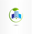 house and buildings energy efficient icon logo vector image vector image