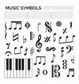 isolated music symbols and signs vector image
