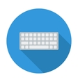 Keyboard flat icon vector image vector image