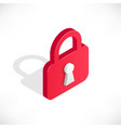 lock isometric icon vector image