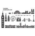 london city skyline 2 vector image