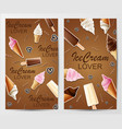 love ice cream banners vector image vector image