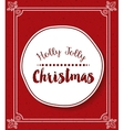 Merry christmas frame isolated icon design
