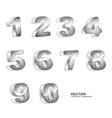 metallic grunge 3D numbers vector image vector image
