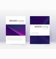 minimalistic cover design template set neon abstr vector image