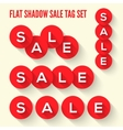 Modern flat sale tags set vector image vector image