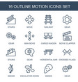 motion icons vector image vector image