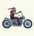 motorcycle rider ride chopper bike and vector image vector image