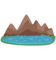 nature landscape crete island with mountains vector image