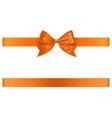 orange bow and ribbon vector image vector image