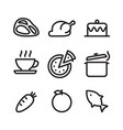 outline icon food vector image vector image