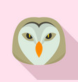 owl head icon flat style vector image