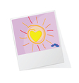 photo frame with sun vector image