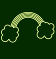 rainbow and clouds stpatrick s day vector image vector image
