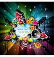 rainbow disco music background vector image vector image