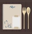 recipe notebook graph with hand drawn text oilcan vector image vector image