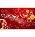 red happy new year card template vector image