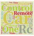 Remote Control Car Maintenance Tips text vector image vector image