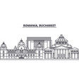 romania bucharest line skyline vector image