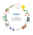 science chemical pharmaceutical concept banner vector image vector image