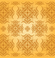 seamless damask pattern orange background vector image vector image
