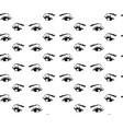 seamless pattern of hand-drawn woman s eyes with vector image vector image