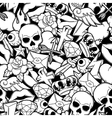 seamless pattern with retro tattoo symbols vector image vector image