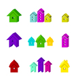 set house icon for advertising real estate vector image
