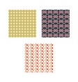 set of ethnic pattern vector image